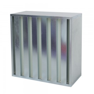 GALVANIZED FRAME HEPA FILTERS V-BANK DESIGNE-292MM MAX CAPAC