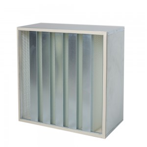 GALVANIZED FRAME HEPA FILTERS V-BANK DESIGN-292MM NUCLEAR FI
